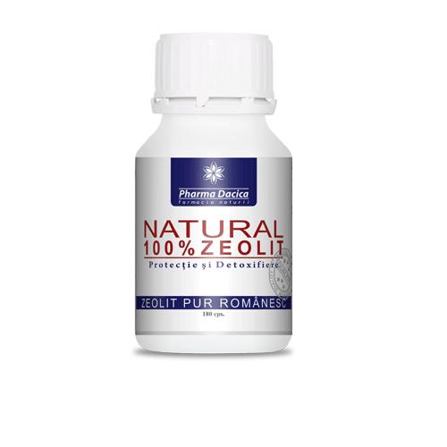 natural zeolit pur romanesc, 180 capsule, pharma dacica
